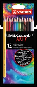 STABILO Aquacolor pastelky ARTY line - 12 barev