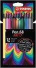 STABILO Pen 68 Fixy ARTY line - 12 barev