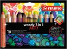 STABILO Woody Pastelky 3 v 1 ARTY line - 10 barev