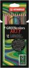 STABILO GREENcolors Pastelky ARTY line - 12 barev