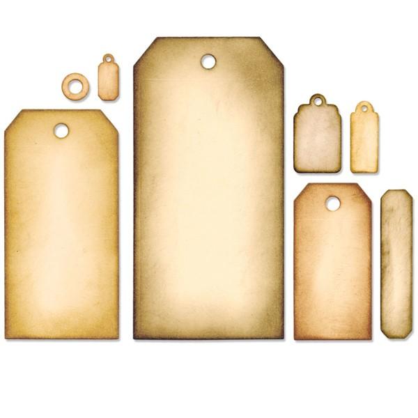 Vyřezávací kovové šablony Framelits - Visačky (8ks)