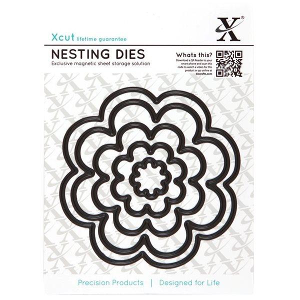 Vyřezávací kovové šablony Xcut - Květiny (5ks)