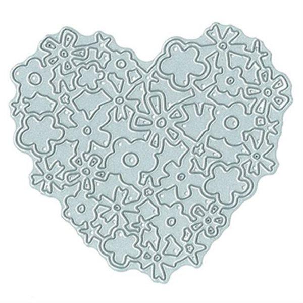 Vyřezávací kovová šablona - Krajkové srdce