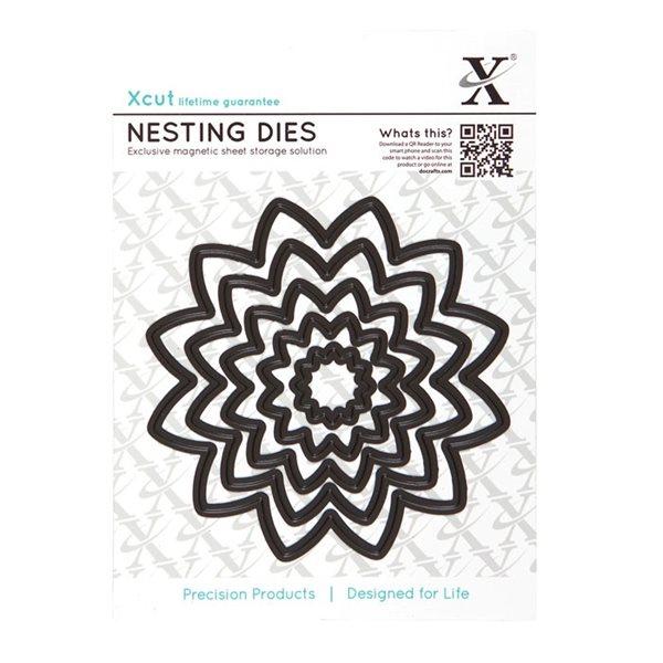 Vyřezávací kovové šablony Xcut - Květiny špičaté (5ks)