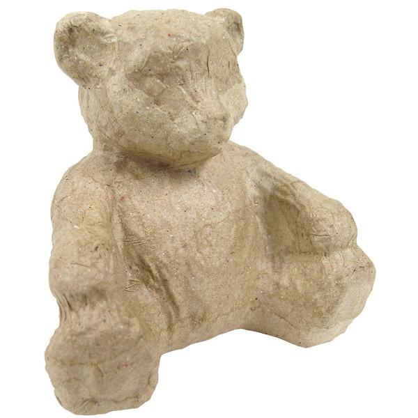 Kartonový sedící medvěd 8,5 x 7,5 x 6,7cm