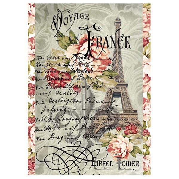 Rýžový papír A4 - Cestování po Francii na Eiffelovu věž