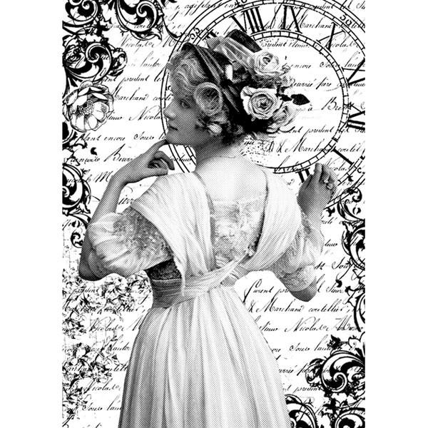 Rýžový papír A4 - Romantická žena
