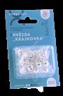 Sada na výrobu ozdoby z perliček - Krajkovka - stříbrná/bílá