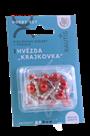 Sada na výrobu ozdoby z perliček - Krajkovka - stříbrná/červená/bílá