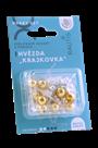 Sada na výrobu ozdoby z perliček - Krajkovka - stříbrná/zlatá/bílá