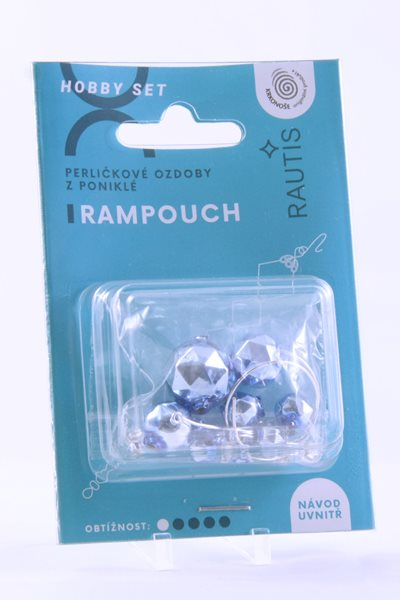 Sada na výrobu ozdoby z perliček - Rampouch - modrý