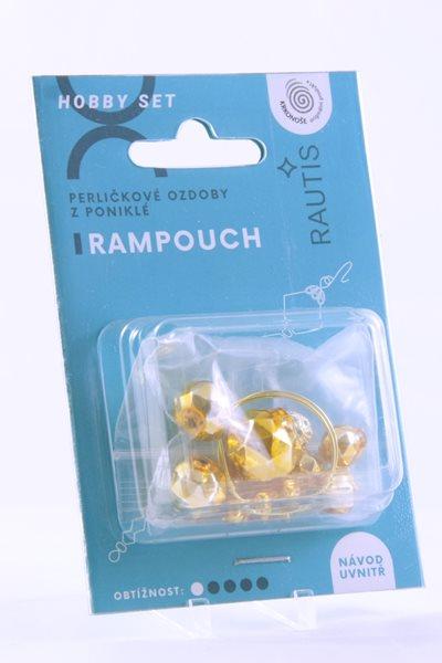 Sada na výrobu ozdoby z perliček - Rampouch - zlatý