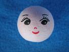 Vatová hlavička s obličejem - 10 kusů