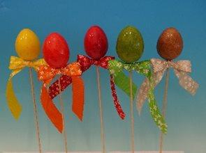 Vajíčko lakované, mix barev - zápich - 1 ks