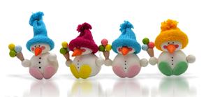Sada na výrobu sněhuláka se zmrzlinou - 4 ks