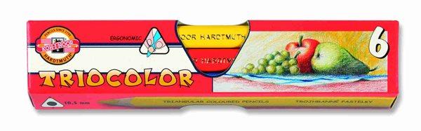 Koh-i-noor pastelky TRIOCOLOR 3151 JUMBO - 6 barev