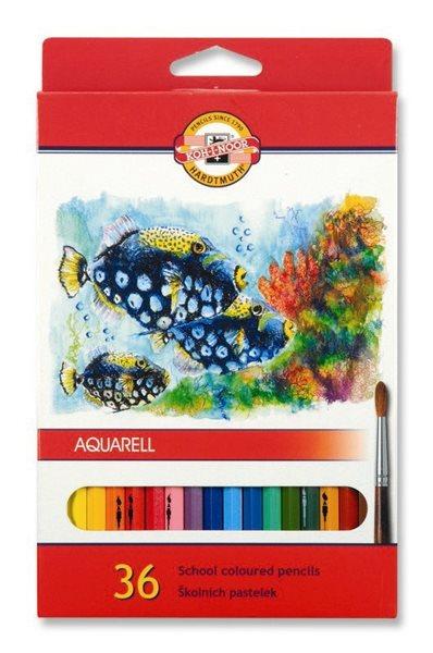 Koh-i-noor pastelky akvarelové školní 3719 - 36 ks