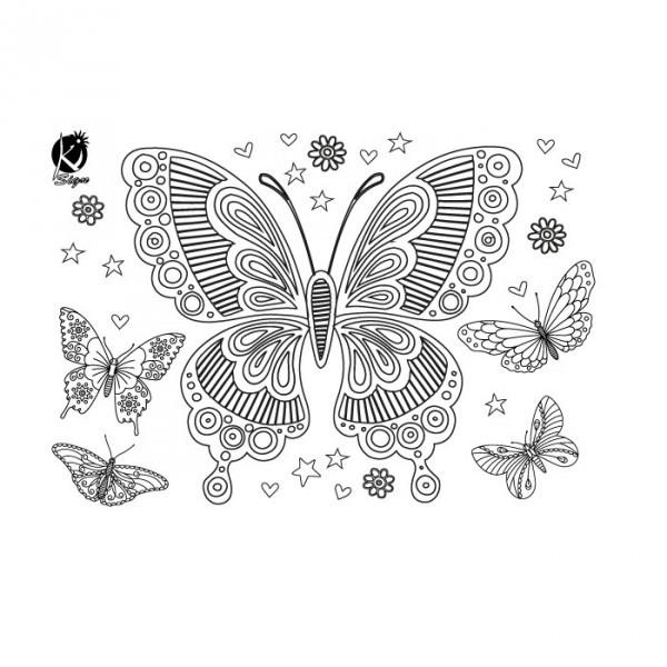 Nažehlovací obrázek A4 - Motýl