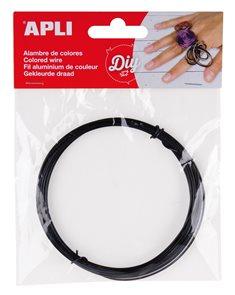Modelovací drátek 1,5 mm, 5 m - černý