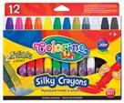 Voskovky Colorino Silky - 12 barev ( včetně 2 metalických zlaté a stříbrné )
