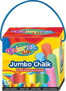 Chodníkové křídy Colorino Jumbo - 15 ks - mix 8 barev