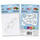 Papírové šablony - Vzdušná doprava - 6 ks