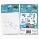 Papírové šablony - Mořská zvířata - 6 ks