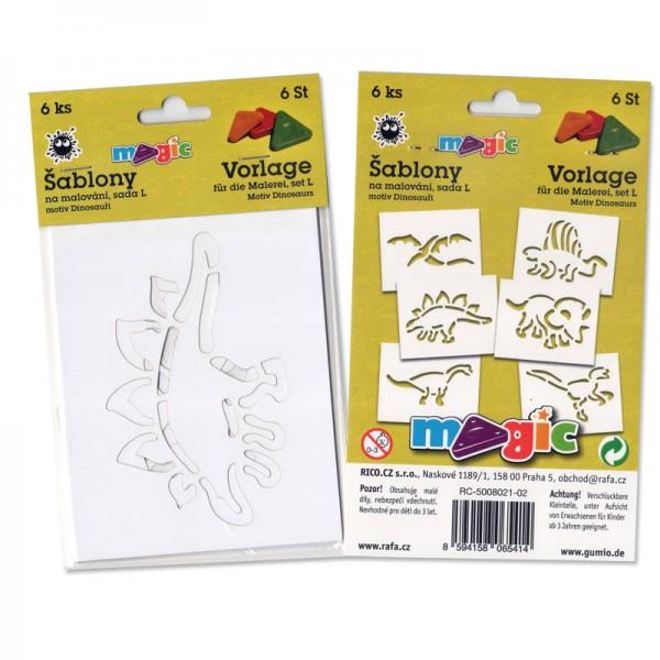 Papírové šablony - Dinosauři - 6 ks