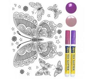 Nažehlovací sada - Motýl