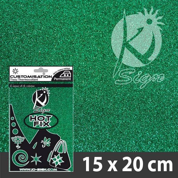 Nažehlovací fólie HOT FIX - třpytivá smaragdová