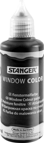 Barva na sklo STANGER 80 ml, černá
