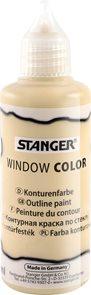 Kontura na sklo STANGER 80 ml, zlatá