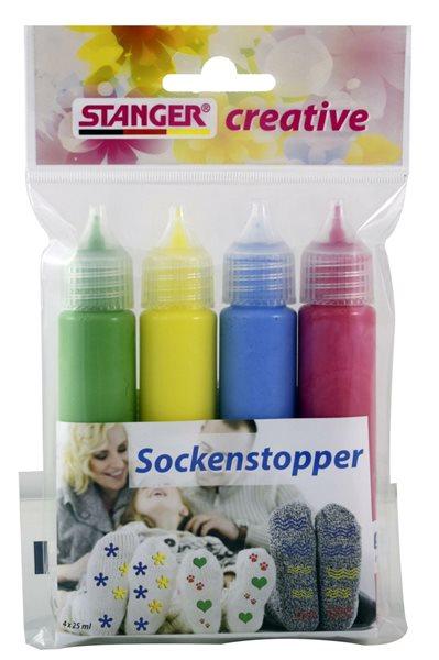 Plastické barvy na textil STANGER - sada 4 barev (4x25ml)