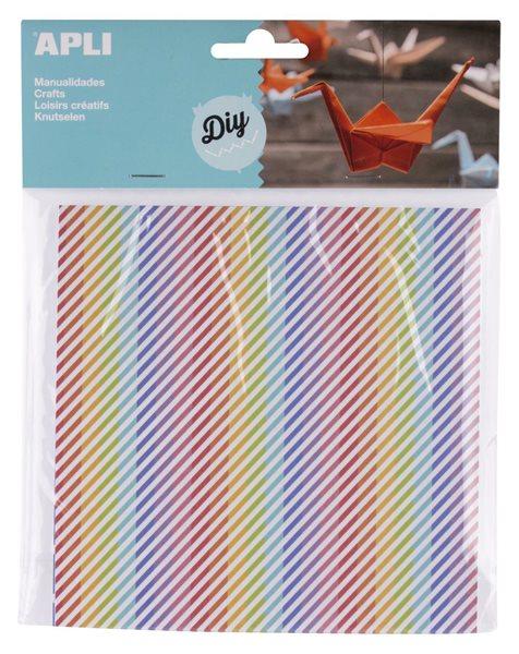 Origami papír 15 x 15 cm, 50 listů - mix barevných vzorů