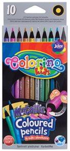 Pastelky Colorino metalické, kulaté, 10 barev