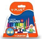 Plastové pastelky HALMA, 12 barev