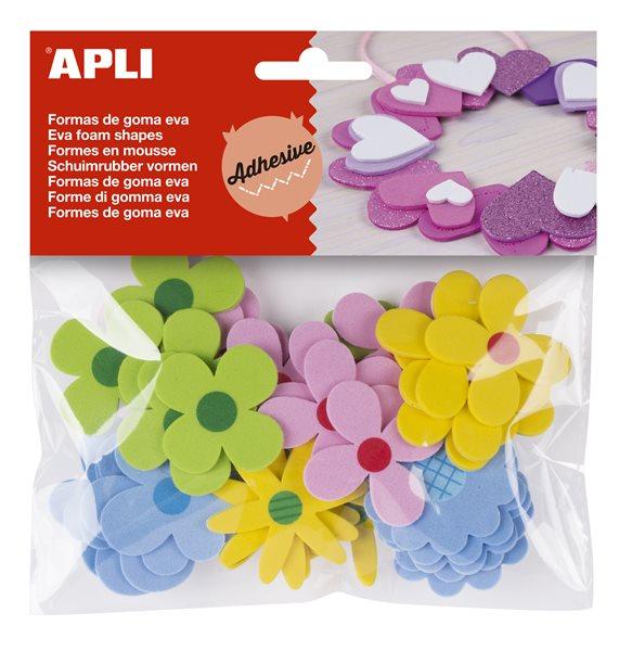 Samolepicí kytičky z pěnovky APLI
