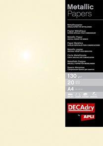 APLI Metalický papír A4 130 g - champagne, 50 listů
