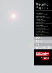 APLI Metalický papír A4 130 g - stříbrný, 50 listů