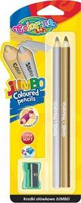Pastelky Colorino JUMBO, kulaté  - zlatá a stříbrná