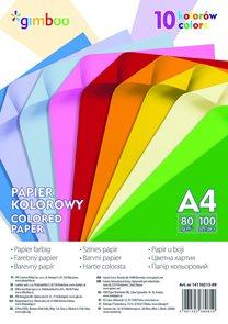 Barevné papíry A4 80 g - intenzivní mix, 100 listů