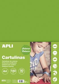 APLI sada barevných papírů, A4, 170 g, trávově zelený - 50 ks