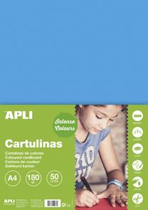 APLI sada barevných papírů, A4, 170 g, nebesky modrý - 50 ks