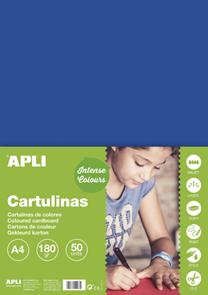 APLI sada barevných papírů, A4, 170 g, tmavě modrý - 50 ks