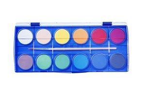 SPOKO vodové barvy 30 mm, 12 barev