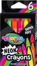 Voskovky Colorino Neonové, trojhranné - 6 barev