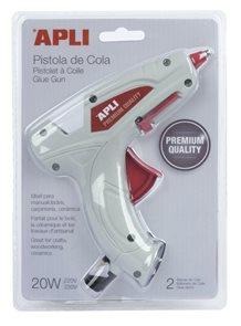 Tavná pistole APLI Premium, 20 W + 2 tavné tyčinky