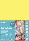 APLI sada barevných papírů, A4, 170 g, světle žlutý - 50 ks