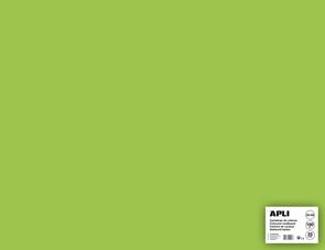 APLI sada barevných papírů, A2+, 170 g, světle zelený - 25 ks