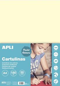 APLI sada barevných papírů, A4, 170 g, béžový - 50 ks